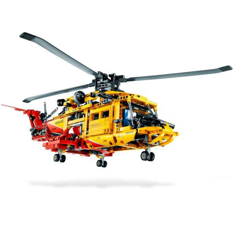 DECOOL Technic City Series 2-in-1 Rescue Helicopter Aircraft Building Blocks Bricks Model Kids Toys Marvel Compatible Legoings