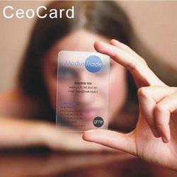 Livraison conception En Plastique transparent carte de visite d'un face impression mat faces 200 pvc cartes de visite par nom