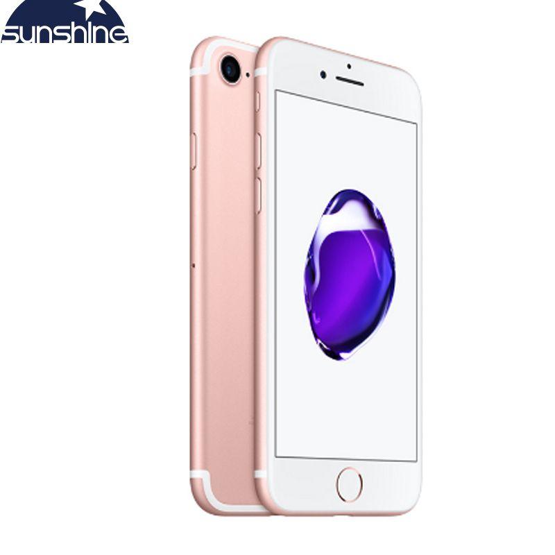 Débloqué Original Apple iPhone 7 4G LTE Smartphone 2G RAM 256 GB/128 GB/32 GB ROM IOS 10 Quad Core 4.7 ''12. 0 MP téléphone portable