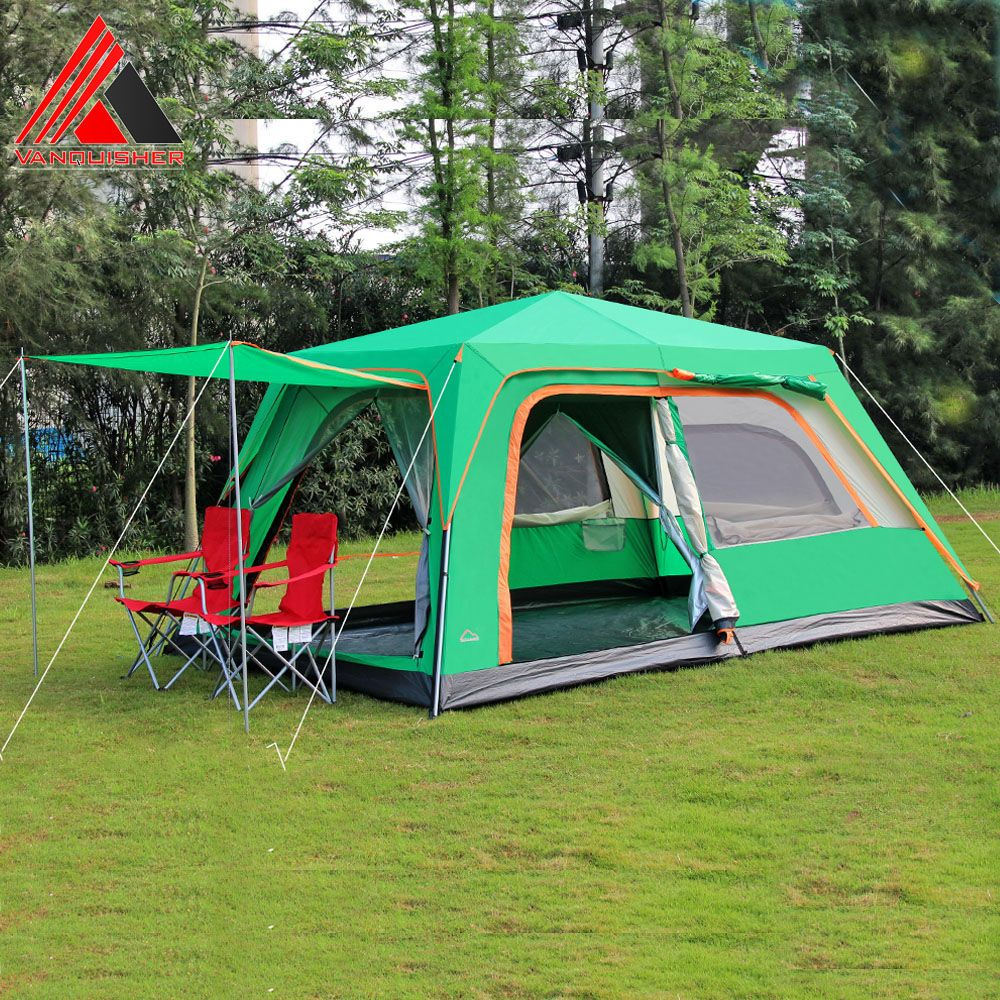 VANQUISHER Automatic large space one hall one bedroom waterproof windproof family party camping tent Outdoor big family tent