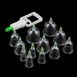 Efficace Saine 12 Coupes Médicale Vide Ventouses Traitement Ventouses Dispositif Massage Du Corps Ensemble
