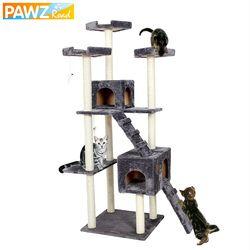 Entrega doméstica H182cm lujo gato muebles del gato saltando juguete escalera madera rascador escalada árbol para gato columpio