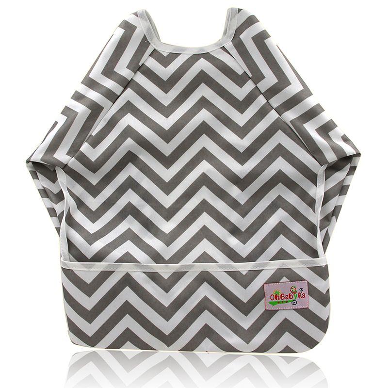 Baby Bibs Long Sleeve Baberos Bebes Waterproof Newborn Burp Cloths 2018 Brand Baby Slabbers Baby Eating and Feeding Clothes