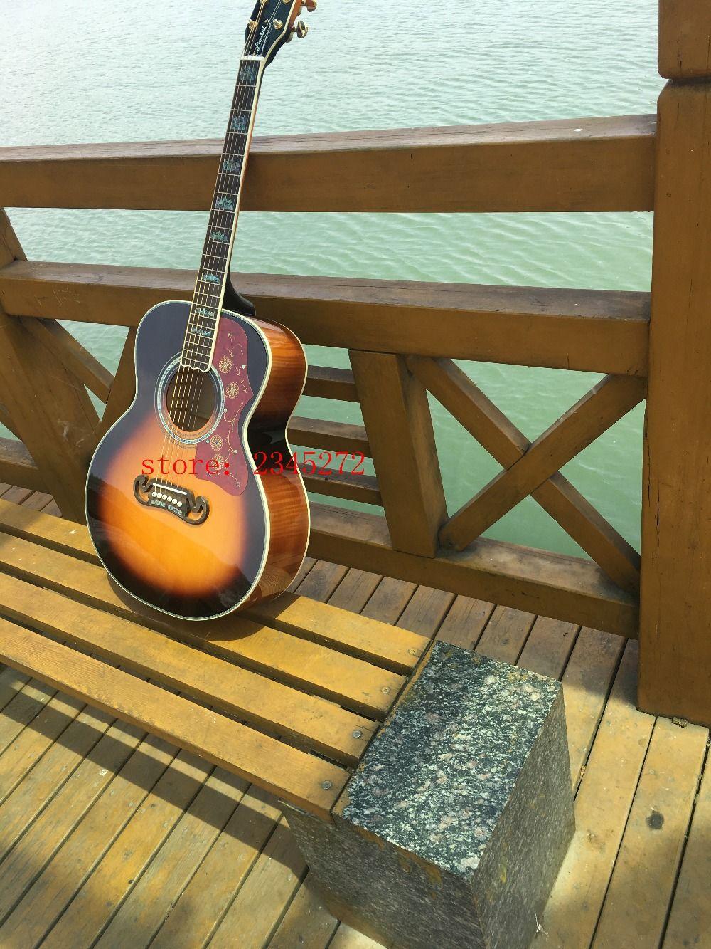 2019 neue fabrik + hohe qualität OEM 39 zoll G200 akustische gitarre, massive fichten top, freies verschiffen