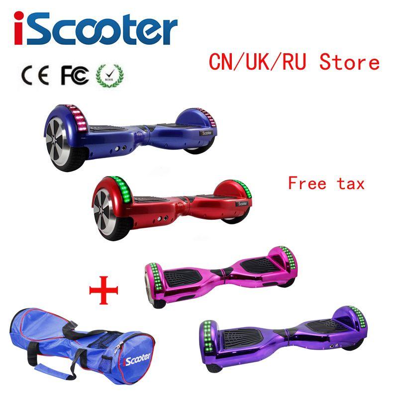 IScooter 6.5 pouces Hoverboards auto équilibrage scooter électrique planche à roulettes par-dessus bord mini skywalker debout hoverboards Aucun Impôt