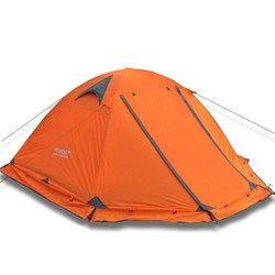 Flytop Berkemah Tenda Outdoor 2 Orang atau 3 Perons Double Layer Aluminium Tiang Anti Salju Kolam Keluarga Tenda dengan Salju rok