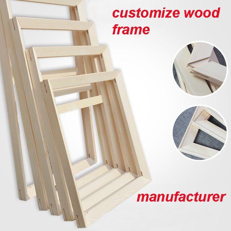 Angepasst Holz Rahmen Für Leinwand Malerei Öl Anpassen Größe Mit Gerahmte Wand Bilder Hohe Qualität