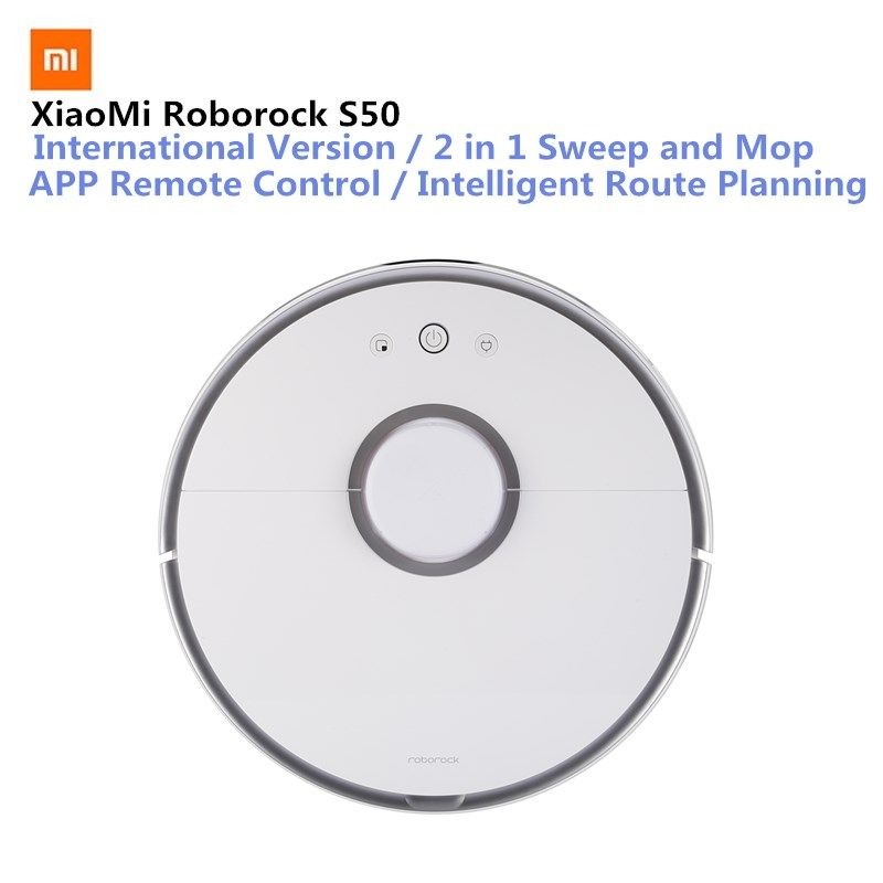 Original Xiaomi Roborock S50 Smart Vacuum Cleaner Mi Robot Intelligent Sensor LDS Route Planning Mijia APP Remote Control 2000Pa