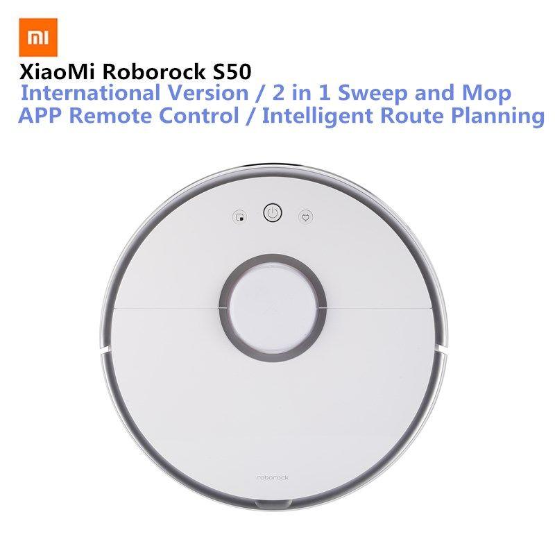 Original Xiaomi Roborock S50 Smart Vacuum Cleaner Mi Robot Intelligent Sensor LDS Route Planning Mijia APP Remote Control 2000Pa
