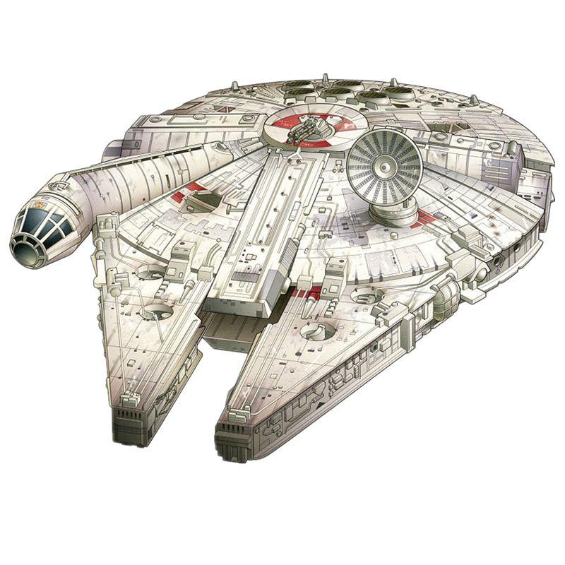 Star Wars Millennium Falcon Ship Fun 3d Paper Diy Miniature Model Kits Puzzle Toys Children Educational Boy Splicing Science