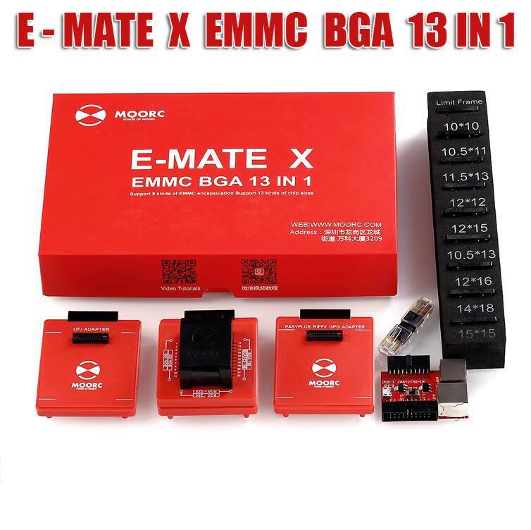MOORC E MATE X EMMC EMATE BGA 13 IN 1 für riff einfach jtag plus ufi medusa pro und emmc atf box