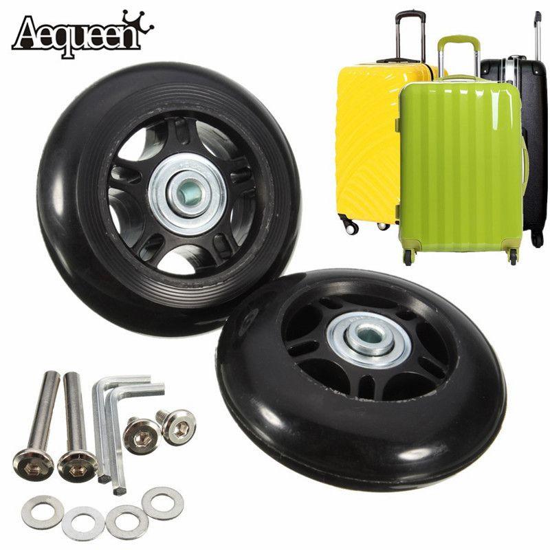 1 paire de voyage bagages en caoutchouc Spinner roues pour valise roues réparation pièces de rechange pour bagage 40 clé OD 75mm x 22mm