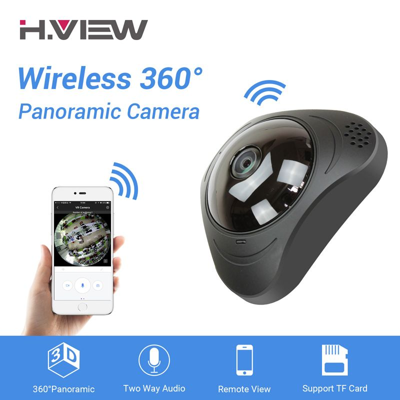 H.VIEW 360 CCTV Camera 720P IP Camera Wifi Cameras 960P Camara IP 1200TVL Fisheye Video Surveillance Cameras