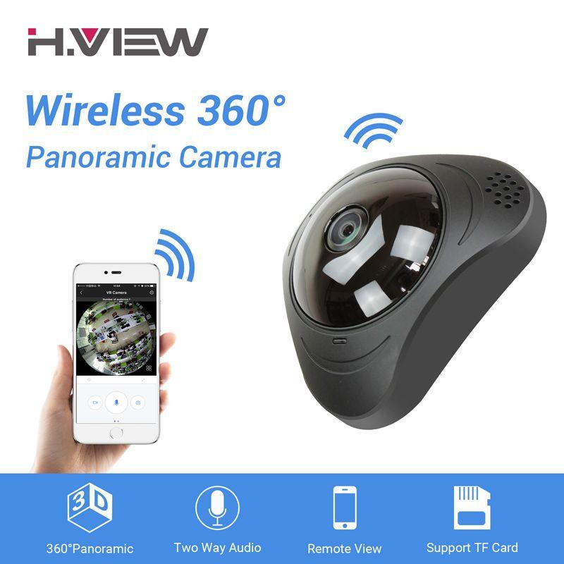 H.VIEW 360 CCTV Camera 720P IP Camera Wifi Cameras 960P Camara IP 1200TVL Fisheye Video Surveillance Cameras