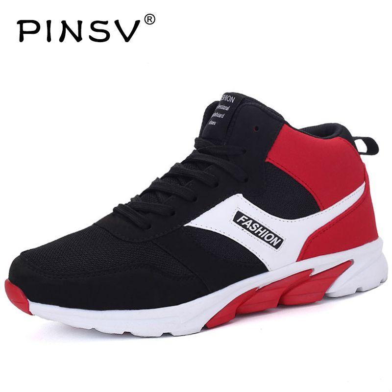 PINSV Invierno Hombres Zapatos Krasovki Deportes Hombres de los Zapatos Corrientes Para Los Hombres de las Zapatillas de deporte Zapatos de Los Hombres de Invierno Zapatillas Azul 2017 Tenisky