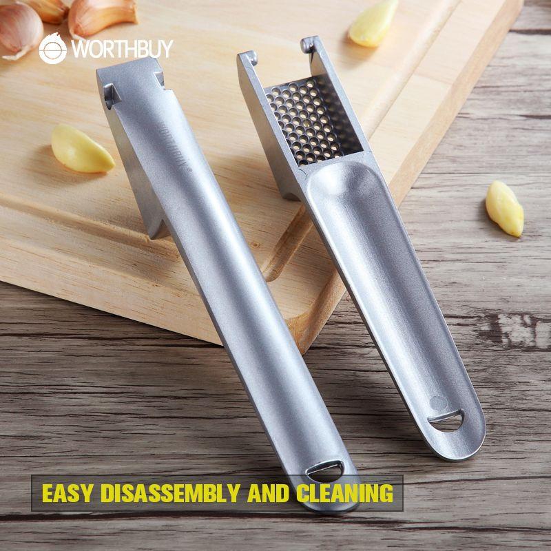 WORTHBUY Creative presse-ail En Aluminium Alliage Râpe Ail Crusher Ginger Trancheuse Chopper accessoires de cuisine Légumes Outils