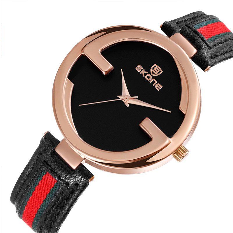 SKONE de Oro Relojes de Las Mujeres Elegantes Señoras Reloj de pulsera de Moda Rhinestone Pulsera de Reloj Relogio Femenino Impermeable FemininoXFCS