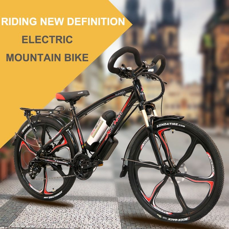 Electric bicycle double lithium battery rang 100km electric ebike lithium mountain bike 26 inch multi-functional type smart lcd