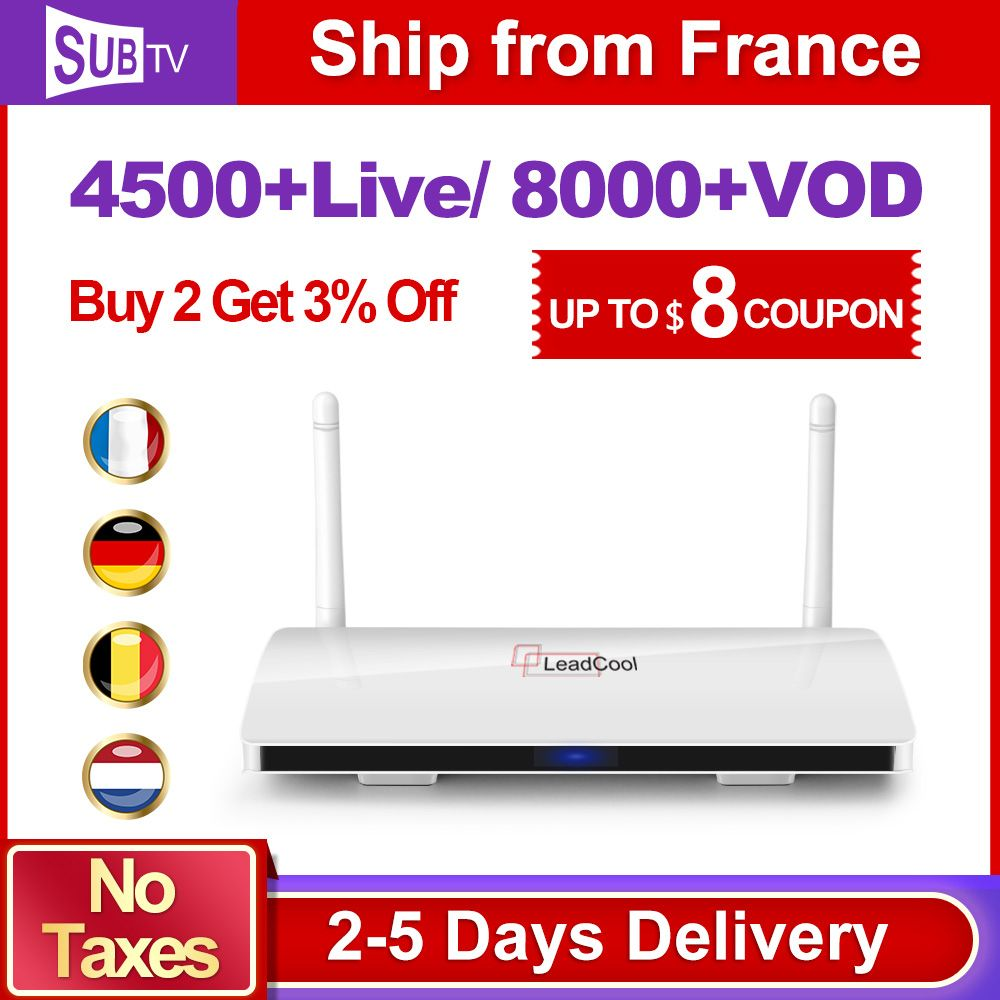 France arabe IPTV Box Leadcool Android IP TV Box sous-TV Code IPTV 1 an abonnement turc belgique France arabe IPTV Box