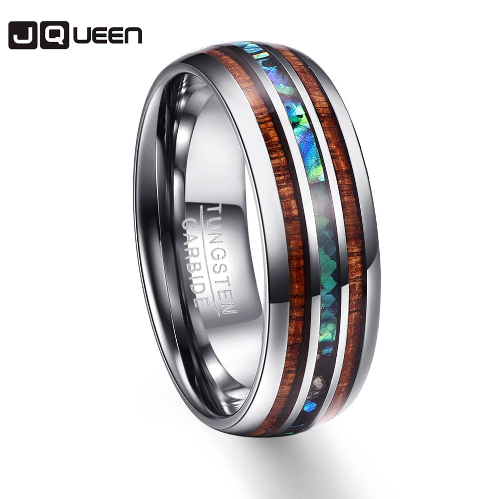 Wood Grain Polishing Men Rings Middle 100% Tungsten Carbide Wedding Bands Multi-size Anillos para hombres Pierscienie