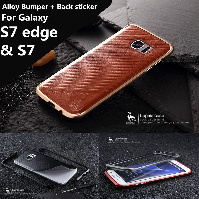 Pour Fundas Galaxy S7 G9300 cas De Luxe de Luxe Ultra Mince en aluminium Pare-chocs Pour Samsung Galaxy S7 bord G9350 5.1 et 5.5