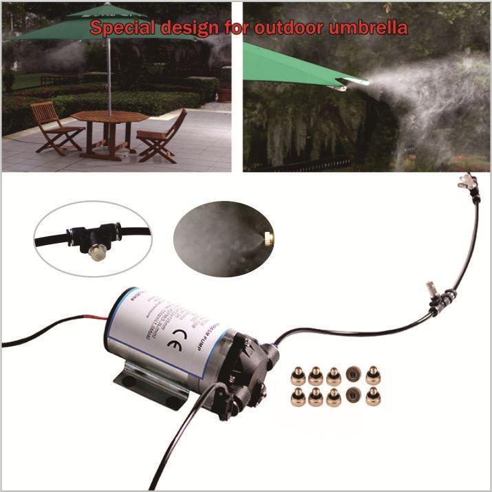 (Design für kühlung von outdoor regenschirm) Schweigen pumpe 10 stücke düse outdoor nebel kühlsystem