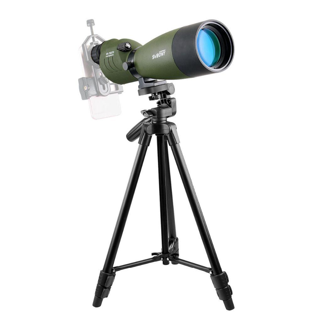 SVBONY SV17 Spektiv 25-75x70mm Zoom Stickstoff 180 De für Ziel Jagd Bogenschießen Teleskop mit Lange 49 zoll Stativ f9326G