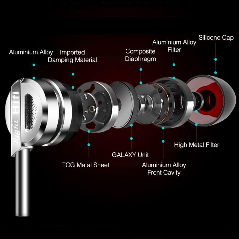 Наушники-вкладыши из металла 3.5 мм Hi-Fi проводной Наушники С микрофоном Bass Музыка стерео гарнитура для iPhone Samsung телефон mp3 Планшеты