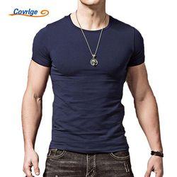 Covrlge Hombres de La Camiseta 2017 Nueva Llegada Del Verano Moda Casual Delgado de manga Corta Camiseta de Los Hombres Marca Casual Camisetas Tops Tees MTS408