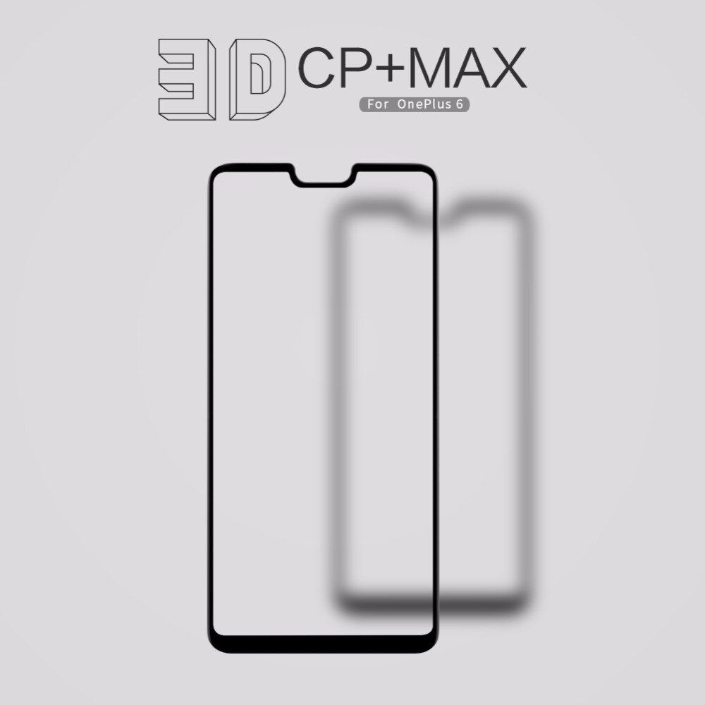 <font><b>Oneplus</b></font> 6 Full Cover Glass Screen Protector For <font><b>oneplus</b></font> 6 NILLKIN 3D CP+MAX Tempered Glass Protective film For one plus 6 1+6