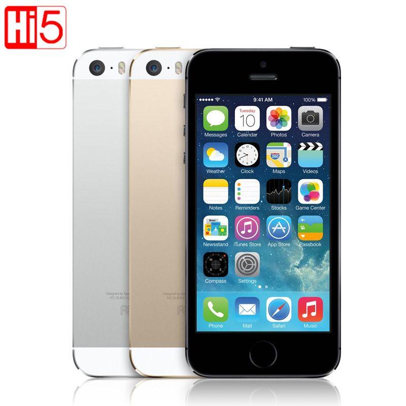 Apple iphone 5s <font><b>Unlocked</b></font> smartphone IOS Touch ID 4.0''display 16GB / 32GB/ 64GB ROM WiFi GPS 8MP Fingerprint free shipping