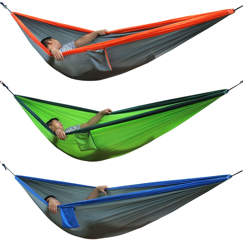 New Portable Double Person Outdoor Travel Camping Nylon Fabric Parachute Hammock Sleep Swing Hammock 300*200cm