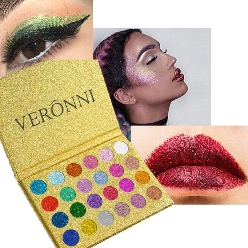 24 Color Glitter Pressed Glitters Single Eyeshadow Diamond Rainbow Make Up Cosmetic Eye shadow Magnet Palette