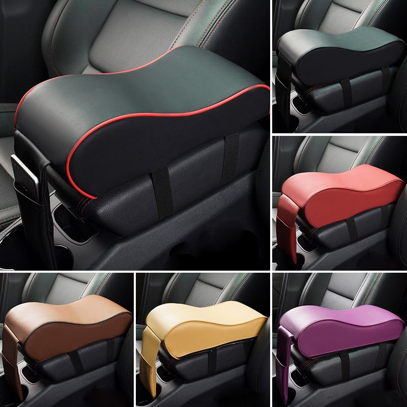 2018 New Leather Car Armrest Pad Universal Auto Armrests Car Center Console Arm Rest Seat Box Pad <font><b>Vehicle</b></font> Protective Car Styling