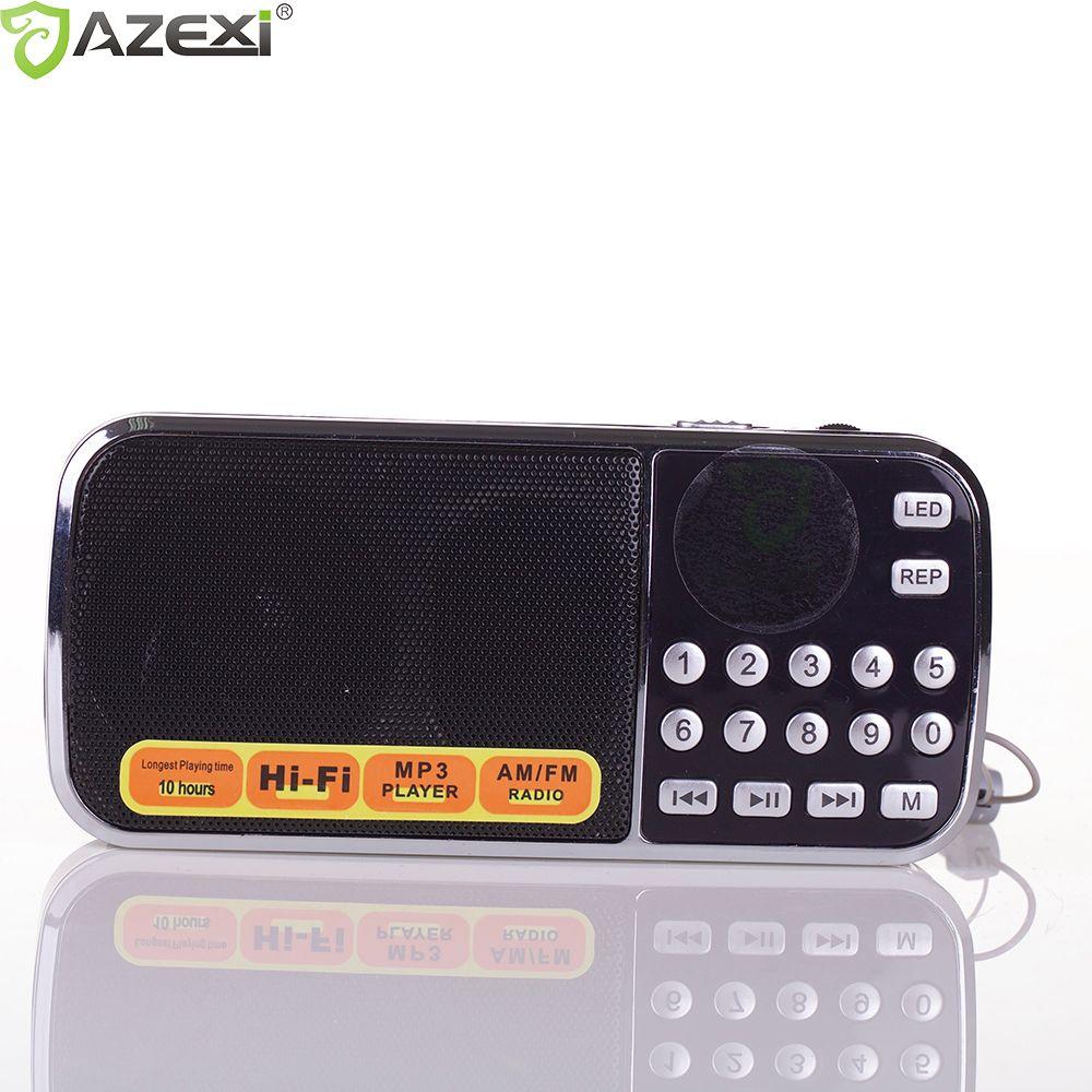 L-088AM Radio FM Portable Numérique Radio Stéréo Mini Haut-Parleur Lecteur de Musique avec TF Carte USB Entrée AUX Sound Box Noir Rouge Bleu