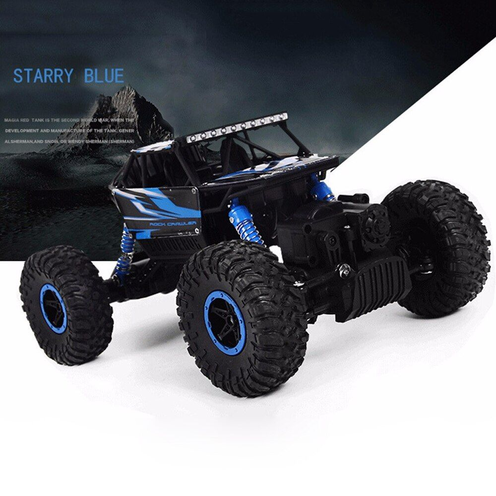 Hot RC Car 4WD <font><b>2.4G</b></font> 4WD 4x4 Driving Rock Crawlers Car Double Motors Drive Bigfoot Cars Remote Control Model Off-Road Vehicle Toy