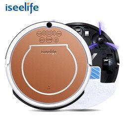 2017 ISEELIFE Wet Robot Vacuum Cleaner for Home 2 in1 PRO2S Mop Dry Wet Water Tank 800PA Auto Cleaning Smart ROBOT ASPIRADOR