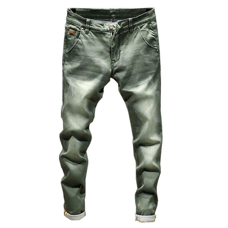 2019 nouveau mode Boutique Stretch décontracté hommes Jeans/Skinny Jeans hommes droite hommes Denim Jeans/hommes pantalons extensibles