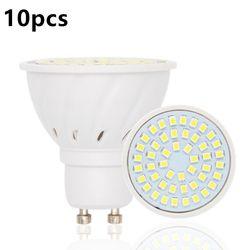 10 pcs/lot Bombillas Led Ampoules GU10 220 V 2835 Lampada De CONDUIT lampe GU 10 Ampoule LED Spotlight Bougie Luz Lamparas Lampadas lumières