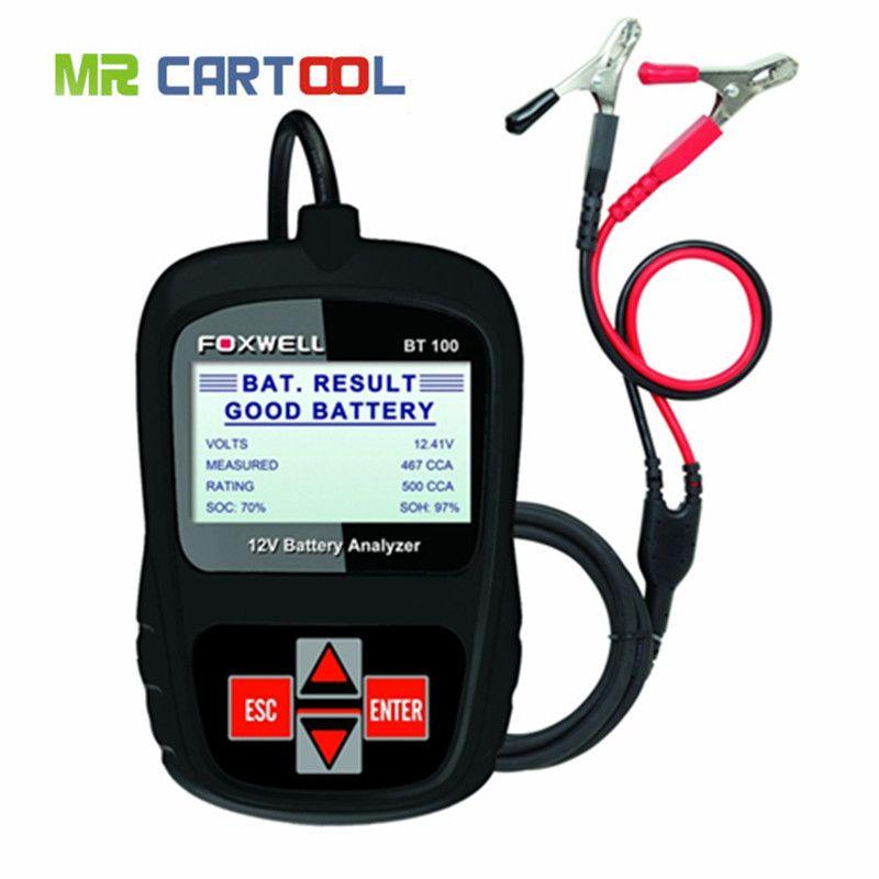 Hot sale High Quality FOXWELL BT100 12V Car Battery Tester for Flooded, AGM, GEL Original BT 100 12 Volt Battery Analyzer