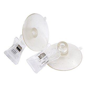 2 PCS 47mm Clair En Plastique Mur Ventouse Clip Pince