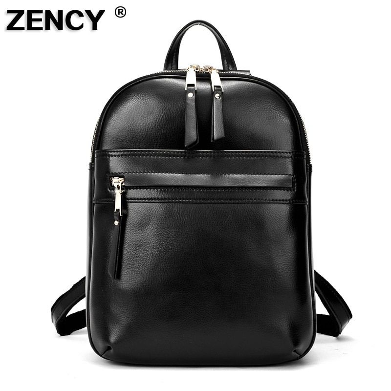 2018 Spring Fashion Hot Real Genuine Leather Women's Backpacks Ladies' Daily Cowhide Backpack Female Girl's School Book Bags