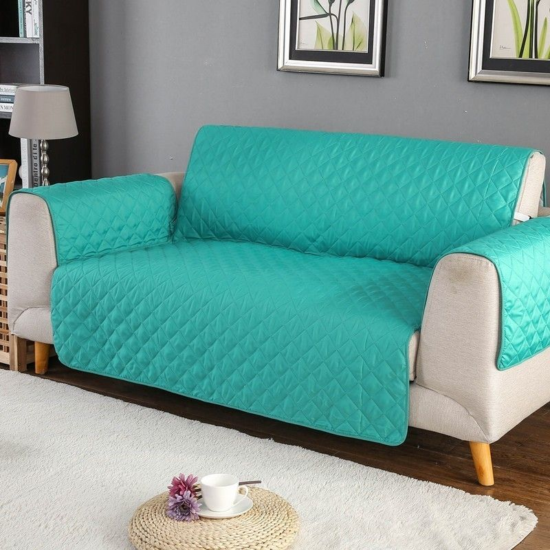 Sofa Couch Cover Chair Throw Pet Dog Kids Mat Furniture Protector Reversible Washable Removable Armrest Slipcovers 1/2/3 Seat