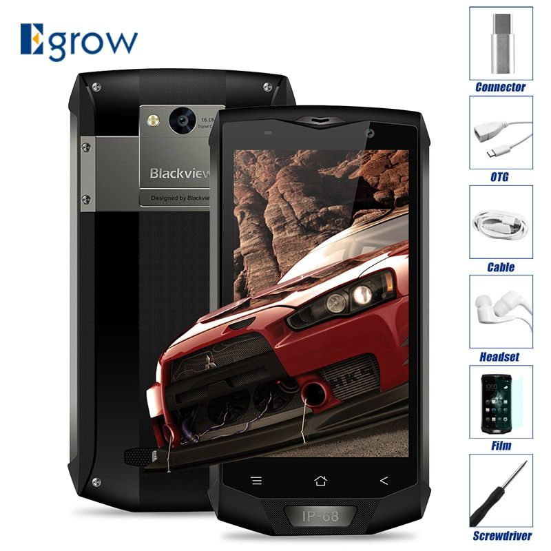 Original Blackview BV8000 Pro MT6757V Octa Core Android 7.0 Waterproof Mobile Phone 5.0'' Cell Phones 6G RAM 64G ROM Smartphone