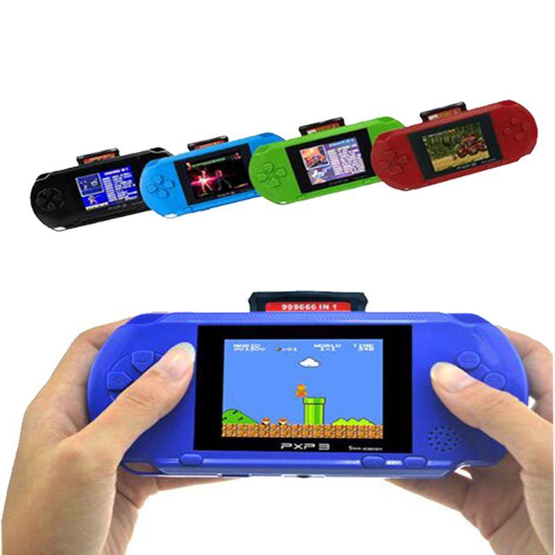 3 pouces 16 Bits PXP3 Mince Station Jeux Vidéo Lecteur De Jeu Portable Avec 2 pièces De Jeu Console intégrée 150 Jeux classiques