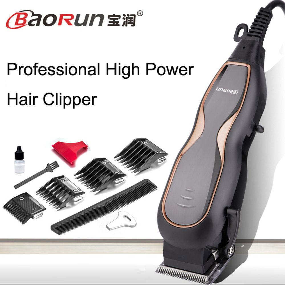 BaoRun Professional Mute Large Power Electric Hair Clippers Family Hair Trimmer Hair Cutting Machine with wire