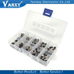 10 valeur 200 PCS BC337 BC327 2N2222 2N2907 2N3904 2N3906 S8050 S8550 A1015 C1815 Transistor Assortiment Kit Transistors Box Pack