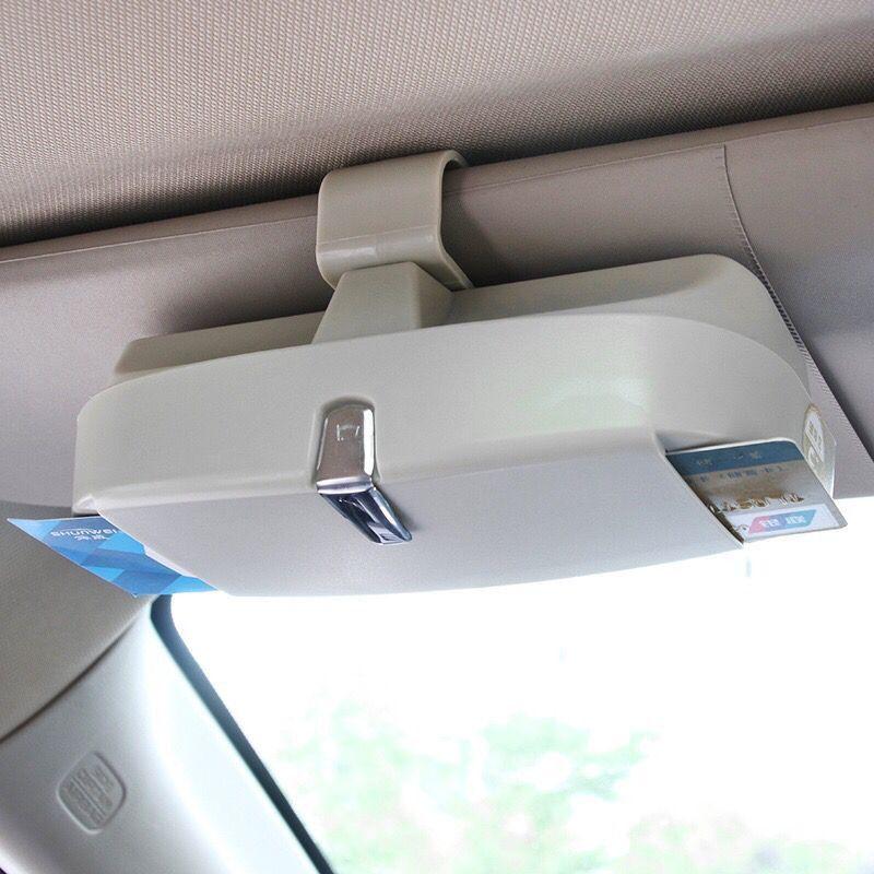 Car-Styling Universal Car Sun Visor Glasses Box Sunglasses Ticket Receipt Clip Storage Holder glasses and cards car holder