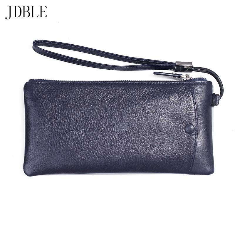 New 6.0 inch Mobile Phone Belt Multiple Cards Holster Bag Case Genuine Leather General Bracelet Zipper Purse Hanging Case JS0487