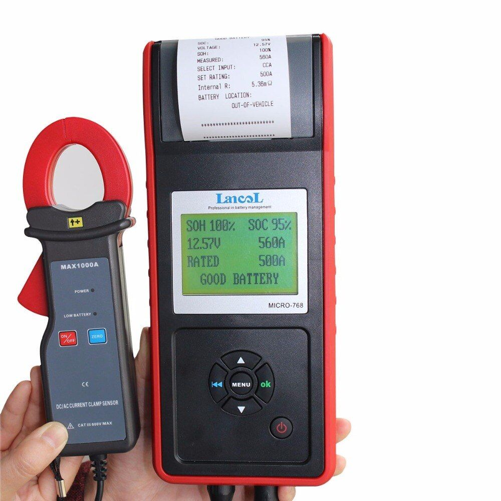 Lancol Car Battery Tester With Printer MICRO-768A Battery Analyzer Auto Battery&Current Detector